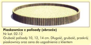 Piaskownica/Obrzeże z palisady