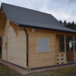 Domek Drewniany Całoroczny z antresolą i tarasem