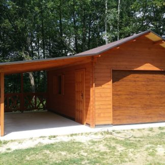 Garaż Jednostanowiskowy z Wiatą przód